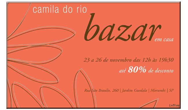 bazar Camila do Rio, Camila do Rio, dicas de presentes, presentes de natal, bazar, descontos, promoções