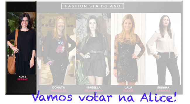 Alice Ferraz, fashionista do ano, troféu mode Ig, Fhits, blogueiras,
