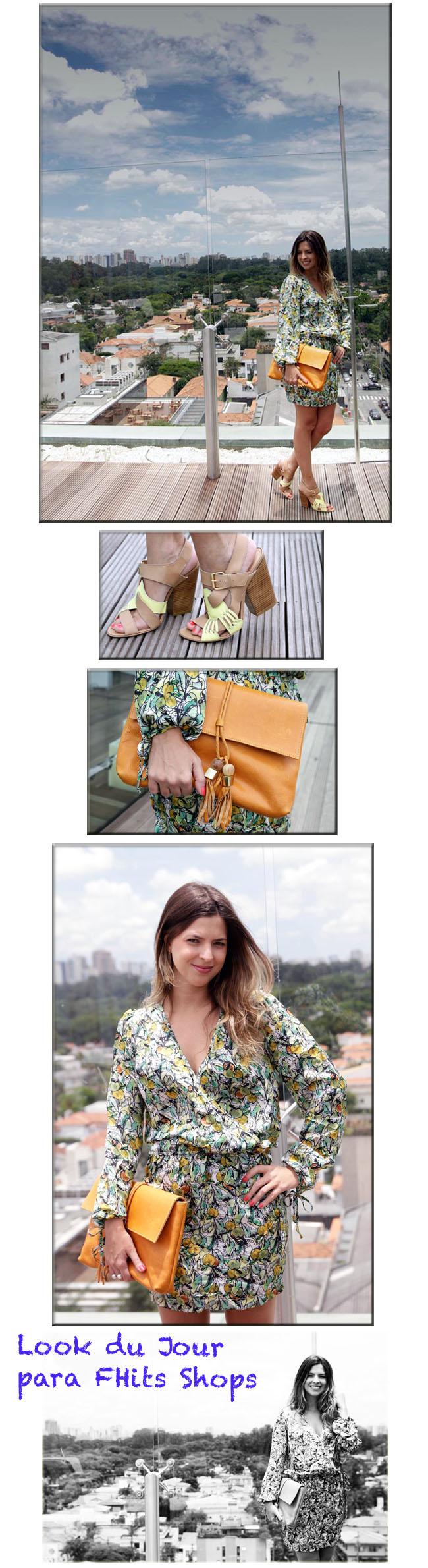 Look, look dia, look do dia, vestido estampado, leblog, patricia mattos, Look do dia leblog, fhits shopt, luiza Barcelos, bolsa laranja, vestido lita 11