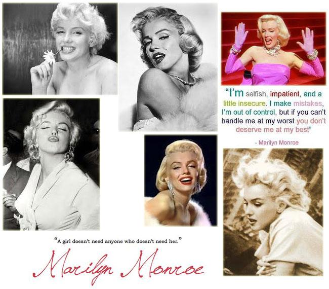 marilyn Monroe, Marilyn Monroe frases, exposição