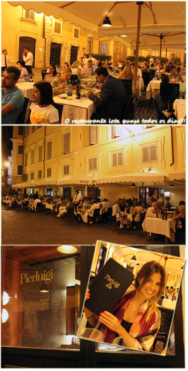 pierluigi, restaurante pierluigi, restaurantes em roma, roma, dicas de roma, italia, dicas da italia, piazza de ricci,