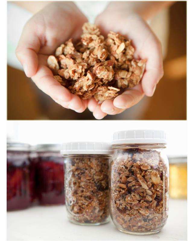 granola, receita de granola, granola salgada