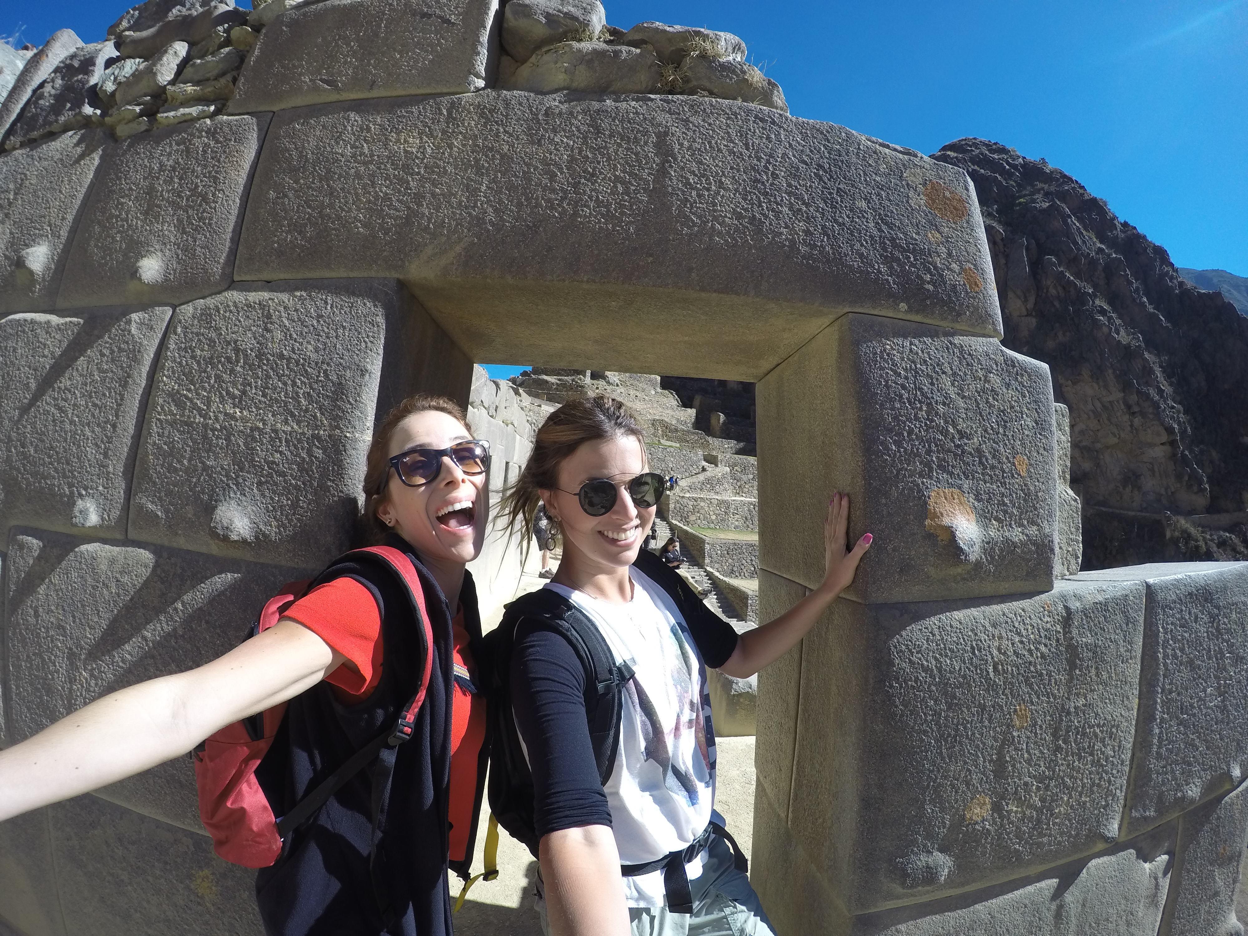 Jaque e Paty no Parque Arqueológico Nacional Ollantaytambo