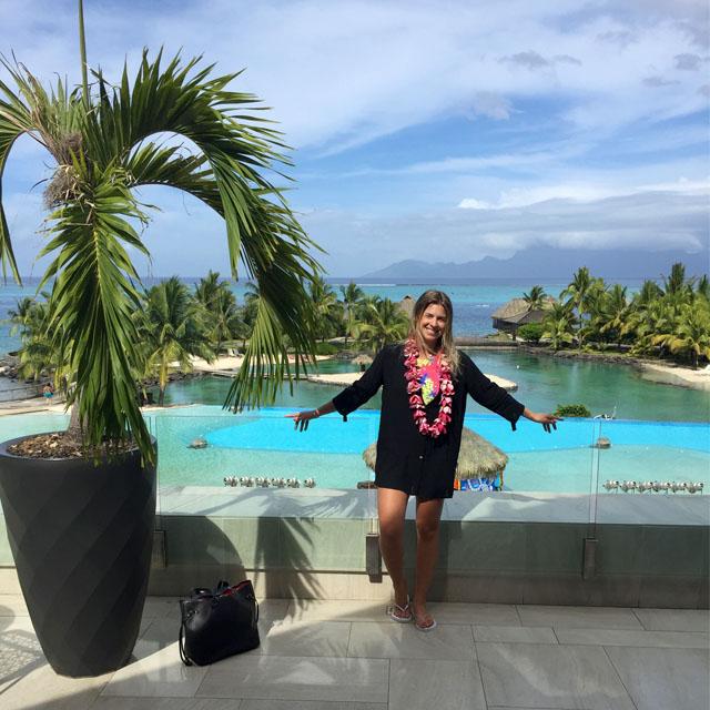 Chegando no Tahiti!