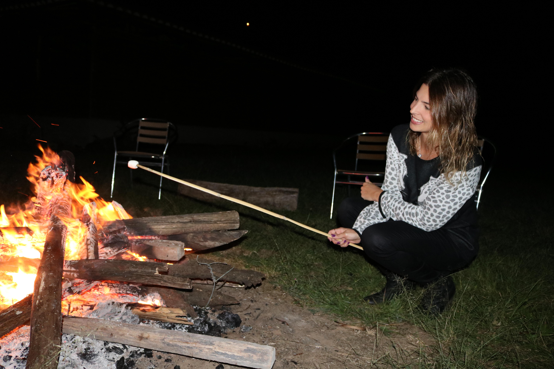 Marshmellow na fogueira
