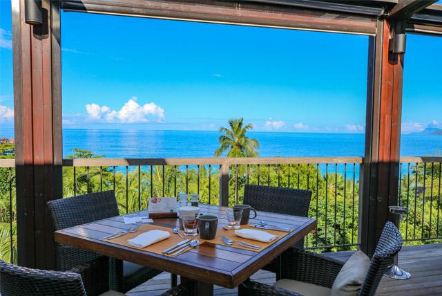 Vista linda do restaurante