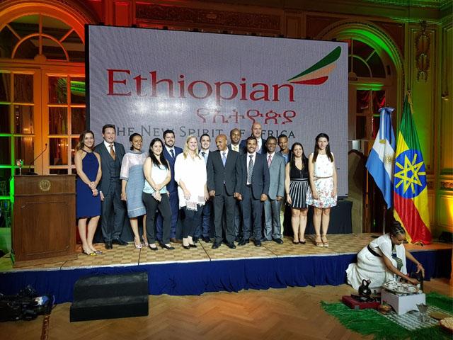 Comitiva da Ethiopian Airlines
