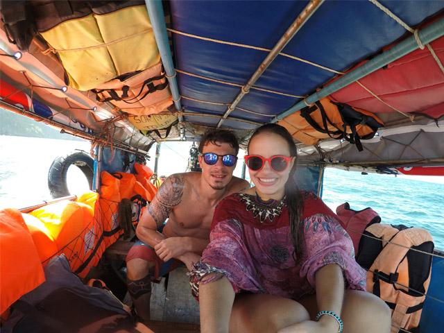 Passeio de Long Tail em Koh Phi Phi - barco privativo