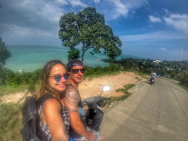 Passeio de moto em Koh Phangan