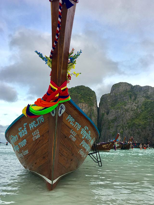 Barco tradicional em Koh PhiPhi