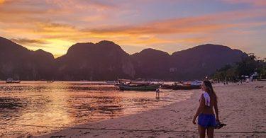 Por do sol em Koh PhiPhi dest