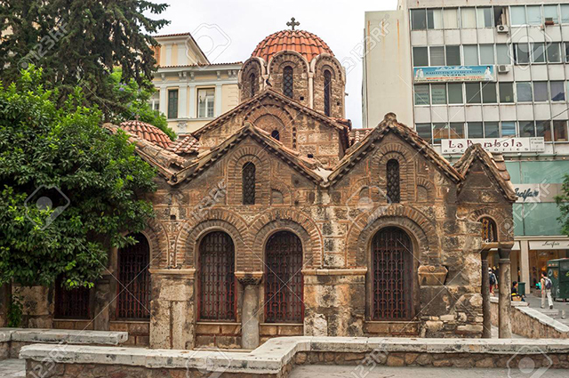 The Church of Panaghia Kapnikarea in Athens