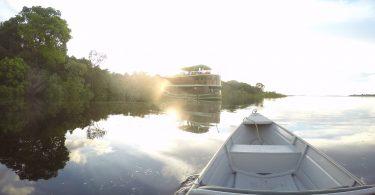 Voltando do passeio para o barco